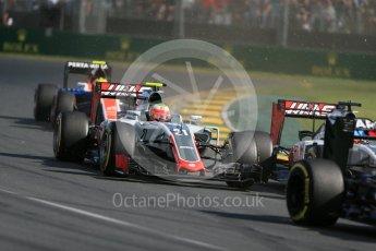 World © Octane Photographic Ltd. Haas F1 Team VF-16 - Esteban Gutierrez. Sunday 20th March 2016, F1 Australian GP Race, Melbourne, Albert Park, Australia. Digital Ref : 1524LB1D6973