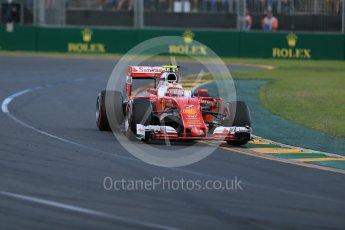 World © Octane Photographic Ltd. Scuderia Ferrari SF16-H – Kimi Raikkonen. Sunday 20th March 2016, F1 Australian GP Race, Melbourne, Albert Park, Australia. Digital Ref : 1524LB1D7115
