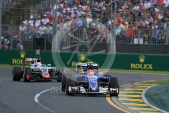 World © Octane Photographic Ltd. Sauber F1 Team C35 – Felipe Nasr. Sunday 20th March 2016, F1 Australian GP Race, Melbourne, Albert Park, Australia. Digital Ref : 1524LB1D7279