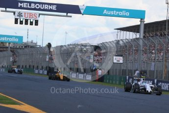 World © Octane Photographic Ltd. Williams Martini Racing, Williams Mercedes FW38 – Valtteri Bottas. Sunday 20th March 2016, F1 Australian GP Race, Melbourne, Albert Park, Australia. Digital Ref : 1524LB1D7389