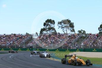 World © Octane Photographic Ltd. Renault Sport F1 Team RS16 - Kevin Magnussen. Sunday 20th March 2016, F1 Australian GP Race, Melbourne, Albert Park, Australia. Digital Ref : 1524LB5D2088
