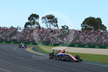 World © Octane Photographic Ltd. Manor Racing MRT05 - Pascal Wehrlein. Sunday 20th March 2016, F1 Australian GP Race, Melbourne, Albert Park, Australia. Digital Ref : 1524LB5D2175