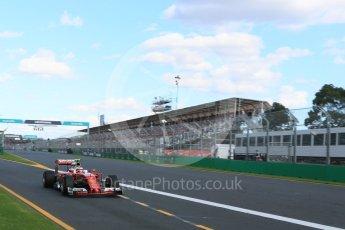 World © Octane Photographic Ltd. Scuderia Ferrari SF16-H – Kimi Raikkonen. Sunday 20th March 2016, F1 Australian GP Race, Melbourne, Albert Park, Australia. Digital Ref : 1524LB5D2274