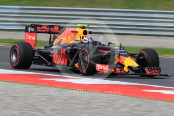 World © Octane Photographic Ltd. Red Bull Racing RB12 – Max Verstappen with missing front wing endplate. Friday 1st July 2016, F1 Austrian GP Practice 1, Red Bull Ring, Spielberg, Austria. Digital Ref : 1598CB1D2211
