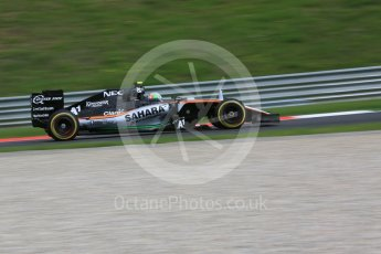 World © Octane Photographic Ltd. Sahara Force India VJM09 Development Driver – Alfonso Celis. Friday 1st July 2016, F1 Austrian GP Practice 1, Red Bull Ring, Spielberg, Austria. Digital Ref : 1598CB5D2652