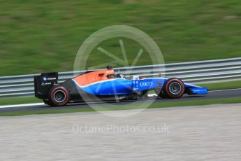 World © Octane Photographic Ltd. Manor Racing MRT05 - Pascal Wehrlein. Friday 1st July 2016, F1 Austrian GP Practice 1, Red Bull Ring, Spielberg, Austria. Digital Ref : 1598CB5D2659