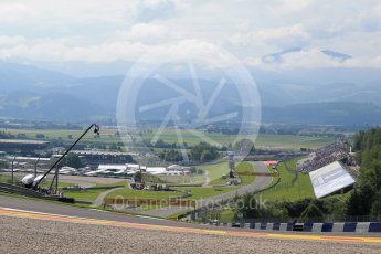 World © Octane Photographic Ltd. The view back down the track from turn 3. Friday 1st July 2016, F1 Austrian GP Practice 1, Red Bull Ring, Spielberg, Austria. Digital Ref : 1598LB1D4948