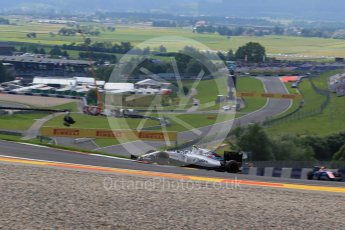 World © Octane Photographic Ltd. Williams Martini Racing, Williams Mercedes FW38 – Valtteri Bottas and Manor Racing MRT05 - Pascal Wehrlein. Friday 1st July 2016, F1 Austrian GP Practice 1, Red Bull Ring, Spielberg, Austria. Digital Ref : 1598LB1D5153