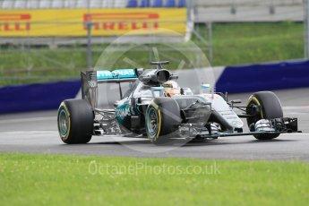 World © Octane Photographic Ltd. Mercedes AMG Petronas W07 Hybrid – Lewis Hamilton. Friday 1st July 2016, F1 Austrian GP Practice 2, Red Bull Ring, Spielberg, Austria. Digital Ref : 1600CB1D2335