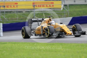 World © Octane Photographic Ltd. Renault Sport F1 Team RS16 - Kevin Magnussen. Friday 1st July 2016, F1 Austrian GP Practice 2, Red Bull Ring, Spielberg, Austria. Digital Ref : 1600CB1D2349