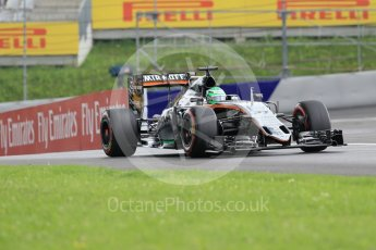 World © Octane Photographic Ltd. Sahara Force India VJM09 - Nico Hulkenberg. Friday 1st July 2016, F1 Austrian GP Practice 2, Red Bull Ring, Spielberg, Austria. Digital Ref : 1600CB1D2356