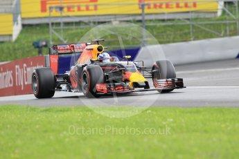 World © Octane Photographic Ltd. Red Bull Racing RB12 – Daniel Ricciardo. Friday 1st July 2016, F1 Austrian GP Practice 2, Red Bull Ring, Spielberg, Austria. Digital Ref : 1600CB1D2359