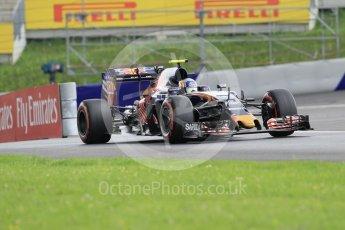 World © Octane Photographic Ltd. Scuderia Toro Rosso STR11 – Carlos Sainz. Friday 1st July 2016, F1 Austrian GP Practice 2, Red Bull Ring, Spielberg, Austria. Digital Ref : 1600CB1D2361