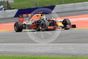 World © Octane Photographic Ltd. Red Bull Racing RB12 – Daniel Ricciardo. Friday 1st July 2016, F1 Austrian GP Practice 2, Red Bull Ring, Spielberg, Austria. Digital Ref : 1600CB1D2453