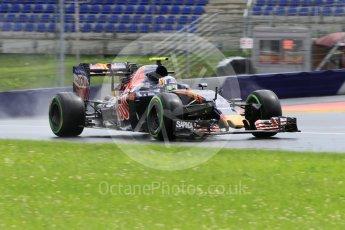 World © Octane Photographic Ltd. Scuderia Toro Rosso STR11 – Carlos Sainz. Friday 1st July 2016, F1 Austrian GP Practice 2, Red Bull Ring, Spielberg, Austria. Digital Ref : 1600CB1D2543