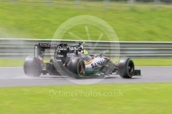 World © Octane Photographic Ltd. Sahara Force India VJM09 - Sergio Perez. Friday 1st July 2016, F1 Austrian GP Practice 2, Red Bull Ring, Spielberg, Austria. Digital Ref : 1600CB1D2611