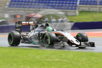 World © Octane Photographic Ltd. Sahara Force India VJM09 - Nico Hulkenberg. Friday 1st July 2016, F1 Austrian GP Practice 2, Red Bull Ring, Spielberg, Austria. Digital Ref : 1600CB1D2614
