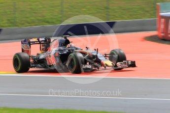 World © Octane Photographic Ltd. Scuderia Toro Rosso STR11 – Daniil Kvyat. Friday 1st July 2016, F1 Austrian GP Practice 2, Red Bull Ring, Spielberg, Austria. Digital Ref : 1600CB1D2658