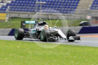 World © Octane Photographic Ltd. Mercedes AMG Petronas W07 Hybrid – Lewis Hamilton. Friday 1st July 2016, F1 Austrian GP Practice 2, Red Bull Ring, Spielberg, Austria. Digital Ref : 1600CB1D2749