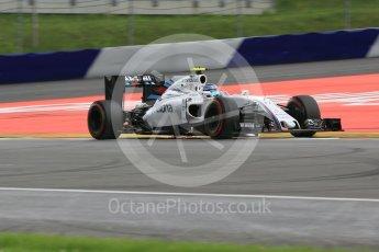 World © Octane Photographic Ltd. Williams Martini Racing, Williams Mercedes FW38 – Valtteri Bottas. Friday 1st July 2016, F1 Austrian GP Practice 2, Red Bull Ring, Spielberg, Austria. Digital Ref : 1600CB5D3132