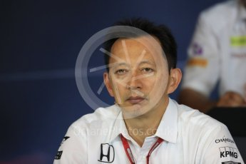 World © Octane Photographic Ltd. F1 Austrian GP FIA Personnel Press Conference, Red Bull Ring, Spielberg, Austria. Friday 1st July 2016. Yusuke Hasegawa – Honda Head of Formula 1Project. Digital Ref :1602LB1D6745