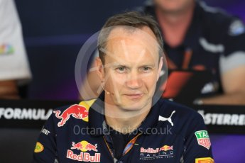 World © Octane Photographic Ltd. F1 Austrian GP FIA Personnel Press Conference, Red Bull Ring, Spielberg, Austria. Friday 1st July 2016. Paul Monaghan – Red Bull Racing Chief Engineer (Car Engineering). Digital Ref :1602LB1D6857