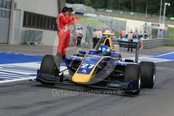 World © Octane Photographic Ltd. DAMS - GP3/16 – Jake Hughes. Friday 1st July 2016, GP3 Practice, Red Bull Ring, Spielberg, Austria. Digital Ref : 1603LB1D5689