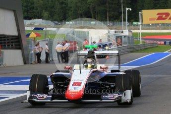 World © Octane Photographic Ltd. Trident – GP3/16 – Sandy Stuvik. Friday 1st July 2016, GP3 Practice, Red Bull Ring, Spielberg, Austria. Digital Ref : 1603LB1D5707
