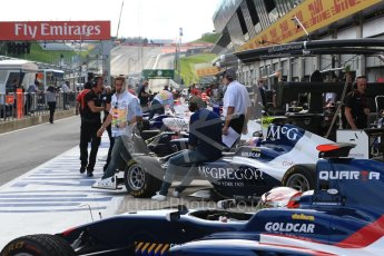 World © Octane Photographic Ltd. Pitlane before the session starts. Friday 1st July 2016, GP3 Practice, Red Bull Ring, Spielberg, Austria. Digital Ref : 1603LB1D5782
