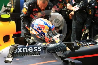World © Octane Photographic Ltd. Red Bull Racing RB12 – Max Verstappen. Sunday 28th August 2016, F1 Belgian GP Grid, Spa-Francorchamps, Belgium. Digital Ref : 1691LB1D2325
