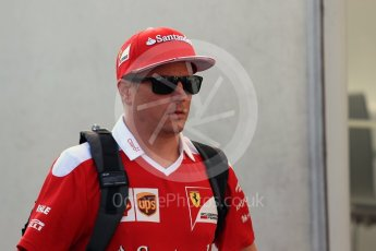 World © Octane Photographic Ltd. Scuderia Ferrari – Kimi Raikkonen. Friday 26th August 2016, F1 Belgian GP Paddock, Spa-Francorchamps, Belgium. Digital Ref : 1679LB1D6165