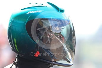 World © Octane Photographic Ltd. Mercedes AMG Petronas team head gear. Saturday 27th August 2016, F1 Belgian GP Practice 3, Spa-Francorchamps, Belgium. Digital Ref : 1687LB1D9604