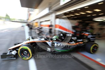 World © Octane Photographic Ltd. Sahara Force India VJM09 - Nico Hulkenberg. Saturday 27th August 2016, F1 Belgian GP Practice 3, Spa-Francorchamps, Belgium. Digital Ref : 1687LB2D3976