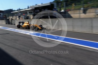 World © Octane Photographic Ltd. Renault Sport F1 Team RS16 - Kevin Magnussen. Saturday 27th August 2016, F1 Belgian GP Practice 3, Spa-Francorchamps, Belgium. Digital Ref : 1687LB2D4029