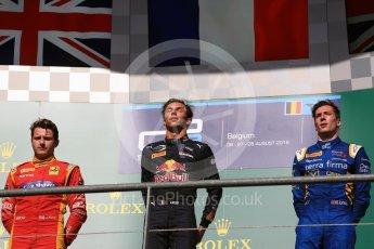 World © Octane Photographic Ltd. Prema Racing - GP2/11 – Pierre Gasly, Racing Engineering - GP2/11 – Jordan King and DAMS - GP2/11 – Alex Lynn. Saturday 27th August 2016, GP2 Race 1, Spa-Francorchamps, Belgium. Digital Ref : 1682LB1D0762