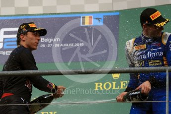 World © Octane Photographic Ltd. Prema Racing - GP2/11 – Pierre Gasly and DAMS - GP2/11 – Alex Lynn. Saturday 27th August 2016, GP2 Race 1, Spa-Francorchamps, Belgium. Digital Ref : 1682LB1D0883