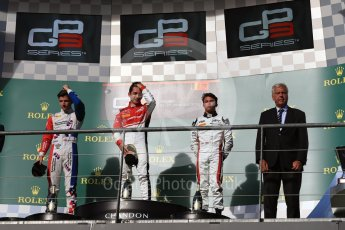 World © Octane Photographic Ltd. ART Grand Prix – GP3/16 – Charles Leclerc, Arden International – GP3/16 – Jake Dennis and Grand Prix – GP3/16 – Nyck de Vries. Saturday 27th August 2016, GP3 Race 1, Spa-Francorchamps, Belgium. Digital Ref : 1683LB1D0948