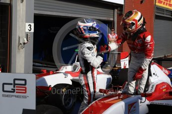 World © Octane Photographic Ltd. ART Grand Prix – GP3/16 – Charles Leclerc and ART Grand Prix – GP3/16 – Nyck de Vries . Saturday 27th August 2016, GP3 Race 1, Spa-Francorchamps, Belgium. Digital Ref : 1683LB2D4256