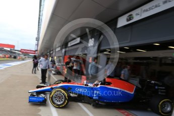 World © Octane Photographic Ltd. Manor Racing MRT05 - Pascal Wehrlein. Saturday 9th July 2016, F1 British GP Practice 3, Silverstone, UK. Digital Ref : 1625LB1D8330