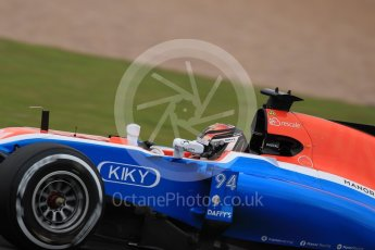 World © Octane Photographic Ltd. Manor Racing MRT05 - Pascal Wehrlein. Friday 8th July 2016, F1 British GP Practice 1, Silverstone, UK. Digital Ref : 1619LB1D0889