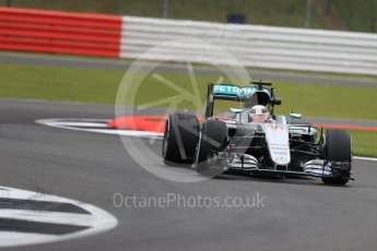 World © Octane Photographic Ltd. Mercedes AMG Petronas W07 Hybrid – Lewis Hamilton. Friday 8th July 2016, F1 British GP Practice 1, Silverstone, UK. Digital Ref : 1619LB1D1121