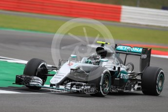 World © Octane Photographic Ltd. Mercedes AMG Petronas W07 Hybrid – Nico Rosberg. Friday 8th July 2016, F1 British GP Practice 1, Silverstone, UK. Digital Ref : 1619LB1D1154