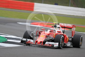 World © Octane Photographic Ltd. Scuderia Ferrari SF16-H – Kimi Raikkonen. Friday 8th July 2016, F1 British GP Practice 1, Silverstone, UK. Digital Ref : 1619LB1D1171