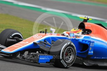 World © Octane Photographic Ltd. Manor Racing MRT05 – Rio Haryanto. Friday 8th July 2016, F1 British GP Practice 1, Silverstone, UK. Digital Ref : 1619LB1D1224