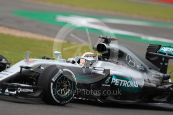 World © Octane Photographic Ltd. Mercedes AMG Petronas W07 Hybrid – Lewis Hamilton. Friday 8th July 2016, F1 British GP Practice 1, Silverstone, UK. Digital Ref : 1619LB1D1264