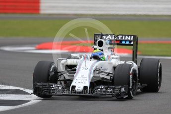 World © Octane Photographic Ltd. Williams Martini Racing, Williams Mercedes FW38 – Felipe Massa. Friday 8th July 2016, F1 British GP Practice 1, Silverstone, UK. Digital Ref : 1619LB1D1275