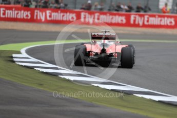 World © Octane Photographic Ltd. Scuderia Ferrari SF16-H – Kimi Raikkonen. Friday 8th July 2016, F1 British GP Practice 1, Silverstone, UK. Digital Ref : 1619LB1D1307