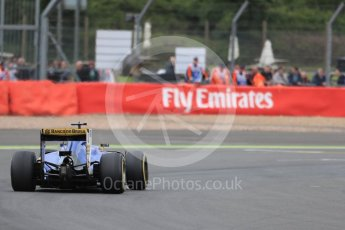 World © Octane Photographic Ltd. Sauber F1 Team C35 – Felipe Nasr. Friday 8th July 2016, F1 British GP Practice 1, Silverstone, UK. Digital Ref : 1619LB1D1387