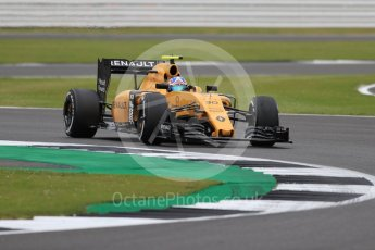World © Octane Photographic Ltd. Renault Sport F1 Team RS16 – Jolyon Palmer. Friday 8th July 2016, F1 British GP Practice 1, Silverstone, UK. Digital Ref : 1619LB1D1430