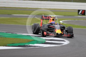 World © Octane Photographic Ltd. Red Bull Racing RB12 – Max Verstappen. Friday 8th July 2016, F1 British GP Practice 1, Silverstone, UK. Digital Ref : 1619LB1D1440